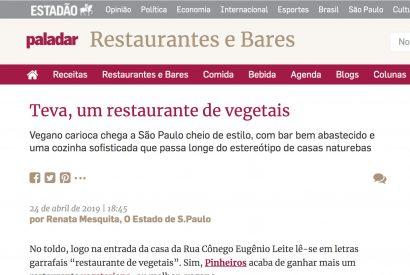 Teva, um restaurante de vegetais