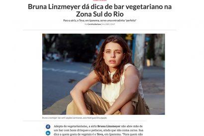 Bruna Linzmeyer dá dica de bar vegetariano…