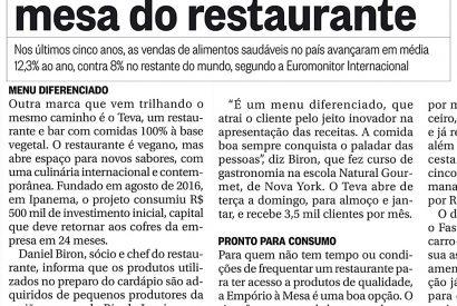 Direto da Horta para a mesa do restaurante