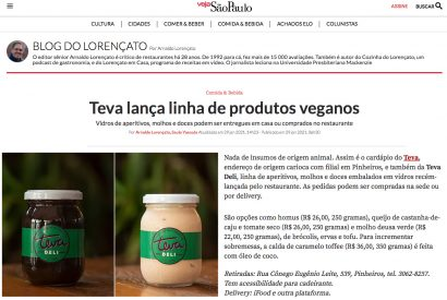 Teva lança linha de produtos veganos